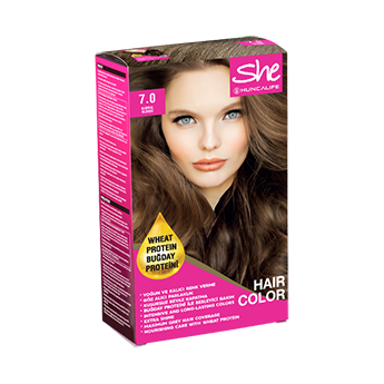 SHE Natural Color Saç Boyası 7.0 Kumral