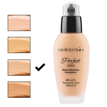 C. I. Perfect Match Fondöten - Nude 35 ml